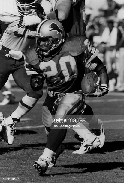 Barry Sanders of the Detroit Lions runs with the ball circa 1990s