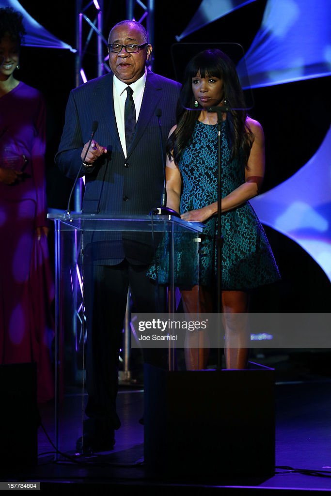 Barry Shabaka Henley and Elisa Neal speak onstage at the 23rd annual NAACP Theatre Awards at Saban Theatre on November 11 2013 in Beverly Hills...