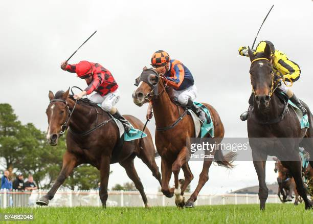 Barry the Baptist ridden by Harry Coffey wins the Stavely Park Merino Stud Maiden Plate at Ararat Racecourse on April 29 2017 in Ararat Australia