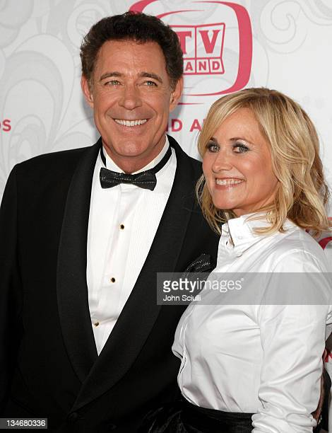 Barry Williams and Maureen McCormick during 5th Annual TV Land Awards Arrivals at Barker Hanger in Santa Monica CA United States