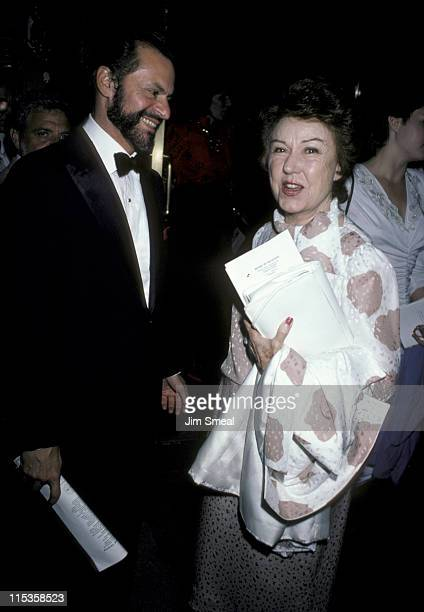 Barry Wilson and Fay Wray during Martha Graham Opening May 27 1986 at City Center in New York City New York United States