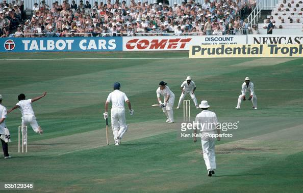 Barry Wood batting for England during his innings of 78 not out in the 1st Prudential Trophy One Day International between England and India at...