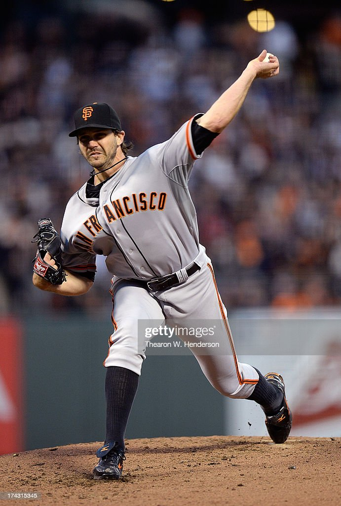 <a gi-track='captionPersonalityLinkClicked' href=/galleries/search?phrase=Barry+Zito&family=editorial&specificpeople=202943 ng-click='$event.stopPropagation()'>Barry Zito</a> #75 of the San Francisco Giants pitches against the Cincinnati Reds at AT&T Park on July 23, 2013 in San Francisco, California.