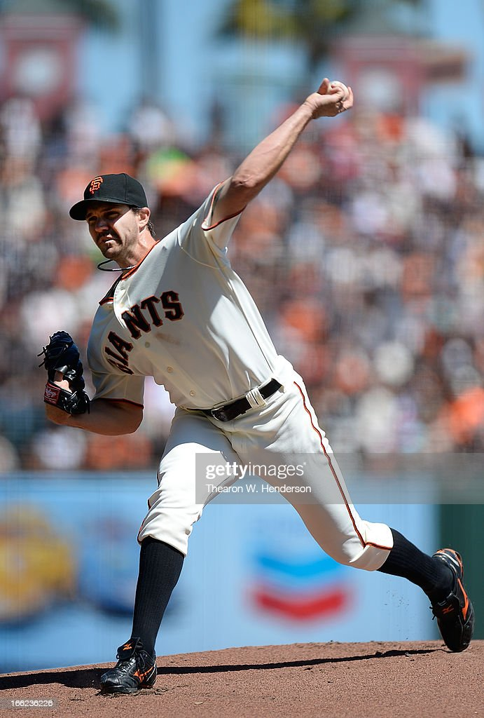 <a gi-track='captionPersonalityLinkClicked' href=/galleries/search?phrase=Barry+Zito&family=editorial&specificpeople=202943 ng-click='$event.stopPropagation()'>Barry Zito</a> #75 of the San Francisco Giants pitches against the Colorado Rockies in the first inning at AT&T Park on April 10, 2013 in San Francisco, California.
