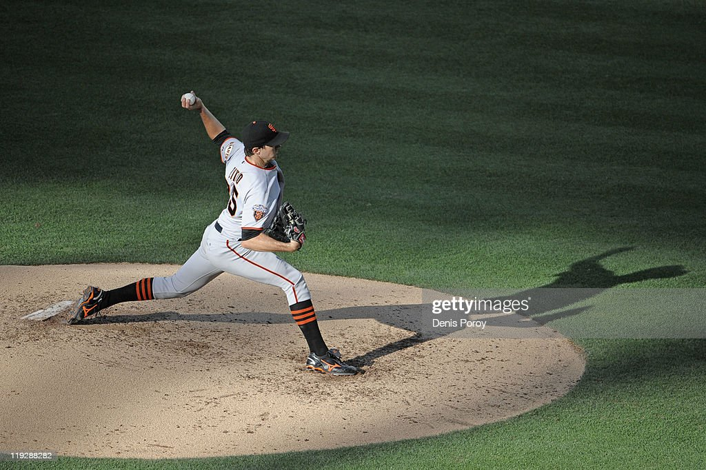 <a gi-track='captionPersonalityLinkClicked' href=/galleries/search?phrase=Barry+Zito&family=editorial&specificpeople=202943 ng-click='$event.stopPropagation()'>Barry Zito</a> #75 of the San Francisco Giants pitches during the third inning of a baseball game against the San Diego Padres at Petco Park on July 16, 2011 in San Diego, California.