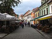 Bars and restaurants in Tkalciceva street in Zagreb Croatia