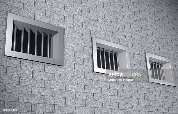 3 Bars windows in a prison