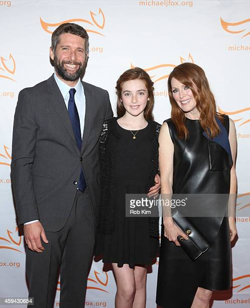 Bart Freundlich Liv Freundlich and Julianne Moore attend '2014 A Funny Thing Happened On The Way To Cure Parkinson's' event at The Waldorf=Astoria on...