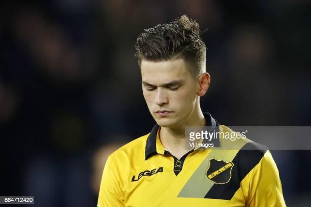 Bart Meijers of NAC Breda during the Dutch Eredivisie match between NAC Breda and PEC Zwolle at the Rat Verlegh stadium on October 21 2017 in Breda...