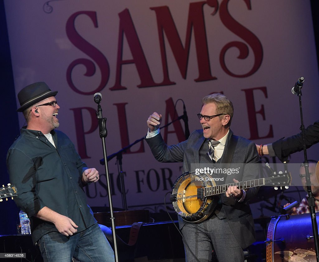 Bart Millard MercyMe and Steven Curtis Chapman perform at the first of six monthly concerts hosted by Steven Curtis Chapman, Sam's Place - Music For The Spirit at Ryman Auditorium on November 2, 2014 in Nashville, Tennessee.