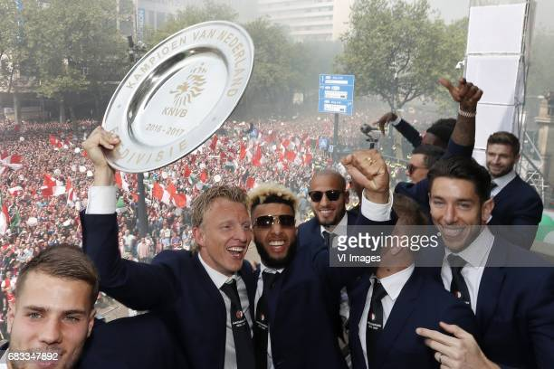 Bart Nieuwkoop of Feyenoord Dirk Kuyt of Feyenoord Tonny Vilhena of Feyenoord Karim El Ahmadi of Feyenoord Jens Toornstra of Feyenoord keeper Brad...