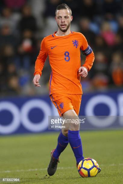 Bart Ramselaar of Jong Oranje during the EURO U21 2017 qualifying match between Netherlands U21 and Andorra U21 at the Vijverberg stadium on November...