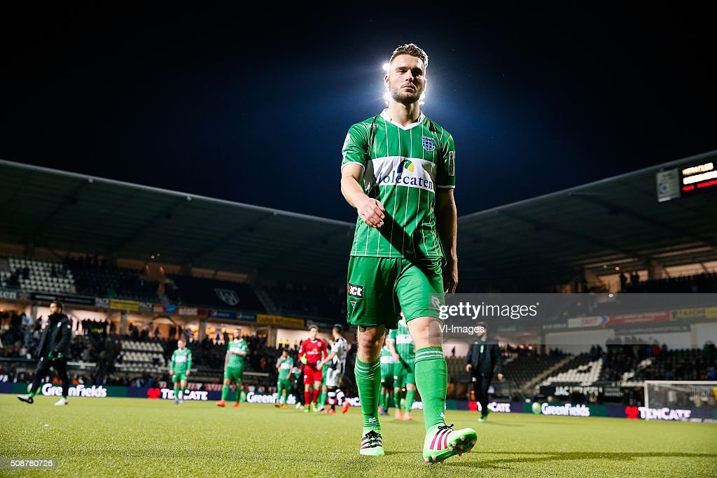 Bart Schenkeveld of PEC Zwolle during the Dutch Eredivisie match between Heracles Almelo and PEC Zwolle at Polman stadium on February 06, 2016 in Almelo, The Netherlands