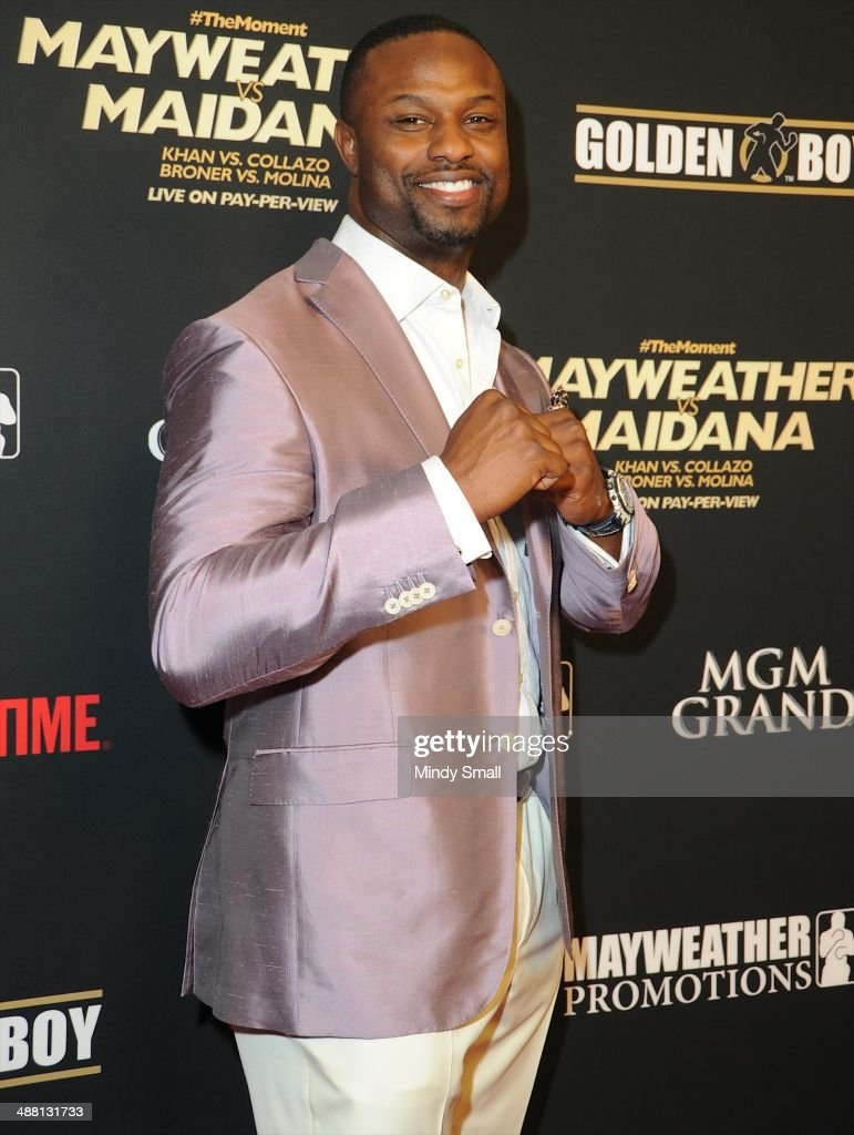 Bart Scott attends the Mayweather Vs. Maidana Pre-Fight Party Presented By Showtime at MGM Garden Arena on May 3, 2014 in Las Vegas, Nevada.