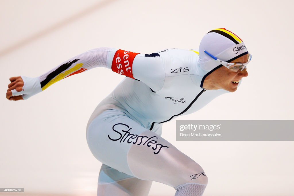 <a gi-track='captionPersonalityLinkClicked' href=/galleries/search?phrase=Bart+Swings&family=editorial&specificpeople=7294720 ng-click='$event.stopPropagation()'>Bart Swings</a> of Belgium competes in the 500m Mens during day one of the Essent ISU World Allround Speed Skating Championships at the Thialf Stadium on March 22, 2014 in Heerenveen, Netherlands.