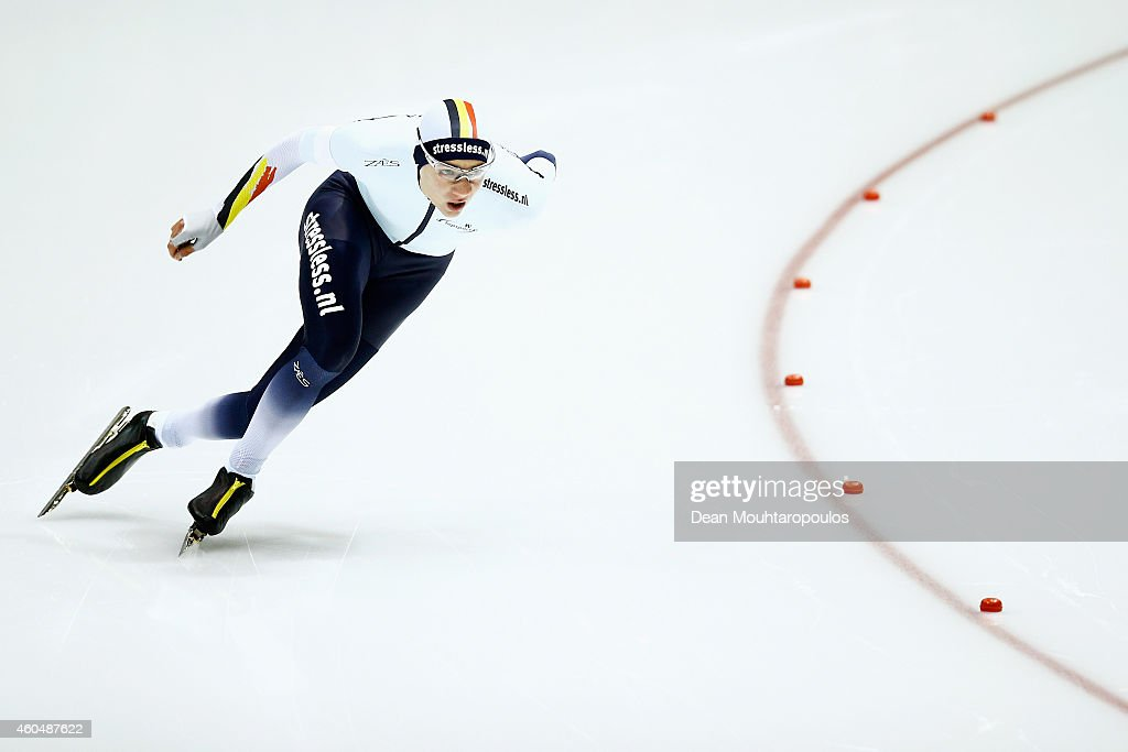<a gi-track='captionPersonalityLinkClicked' href=/galleries/search?phrase=Bart+Swings&family=editorial&specificpeople=7294720 ng-click='$event.stopPropagation()'>Bart Swings</a> of Belgium competes in the Division A 1500m Mens race on day three of the ISU World Cup Speed Skating held at Thialf Ice Arena on December 14, 2014 in Heerenveen, Netherlands.