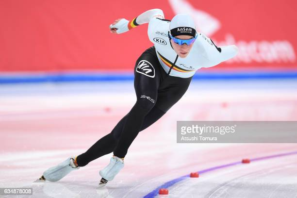 Bart Swings of Belgium competes in the men 1500m during the ISU World Single Distances Speed Skating Championships Gangneung Test Event For...