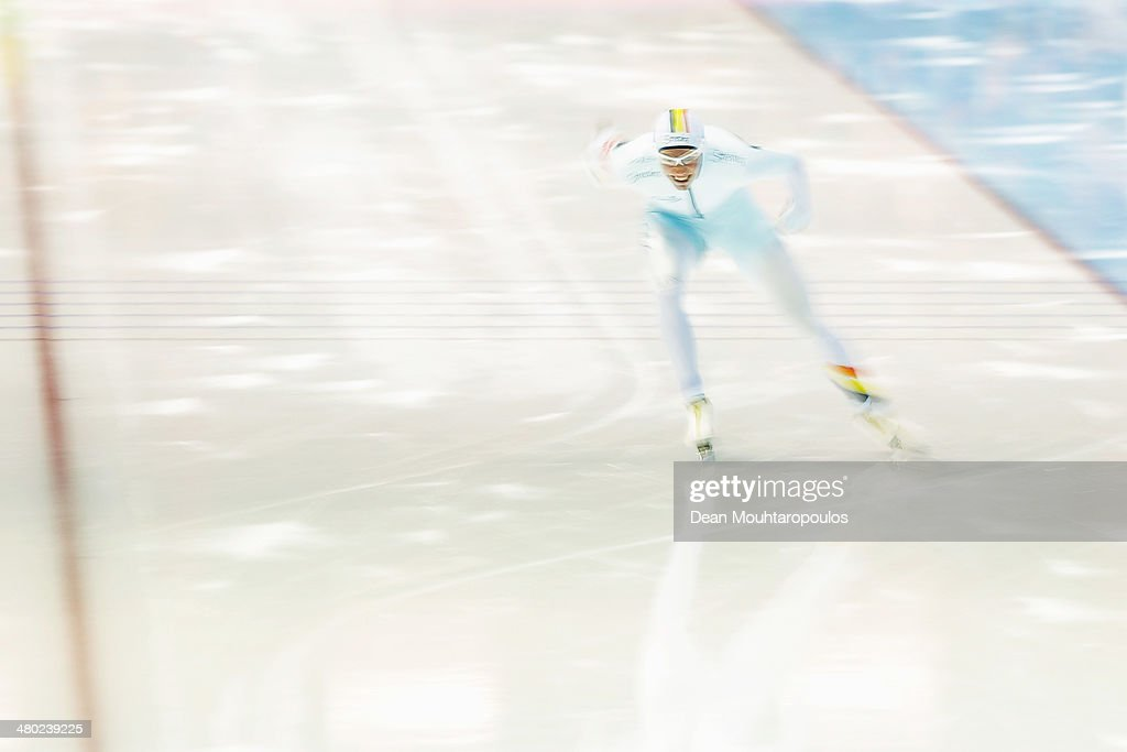 <a gi-track='captionPersonalityLinkClicked' href=/galleries/search?phrase=Bart+Swings&family=editorial&specificpeople=7294720 ng-click='$event.stopPropagation()'>Bart Swings</a> of Belgium competes in the Mens 1500m race during day two of the Essent ISU World Allround Speed Skating Championships at the Thialf Stadium on March 23, 2014 in Heerenveen, Netherlands.
