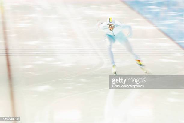 Bart Swings of Belgium competes in the Mens 1500m race during day two of the Essent ISU World Allround Speed Skating Championships at the Thialf...