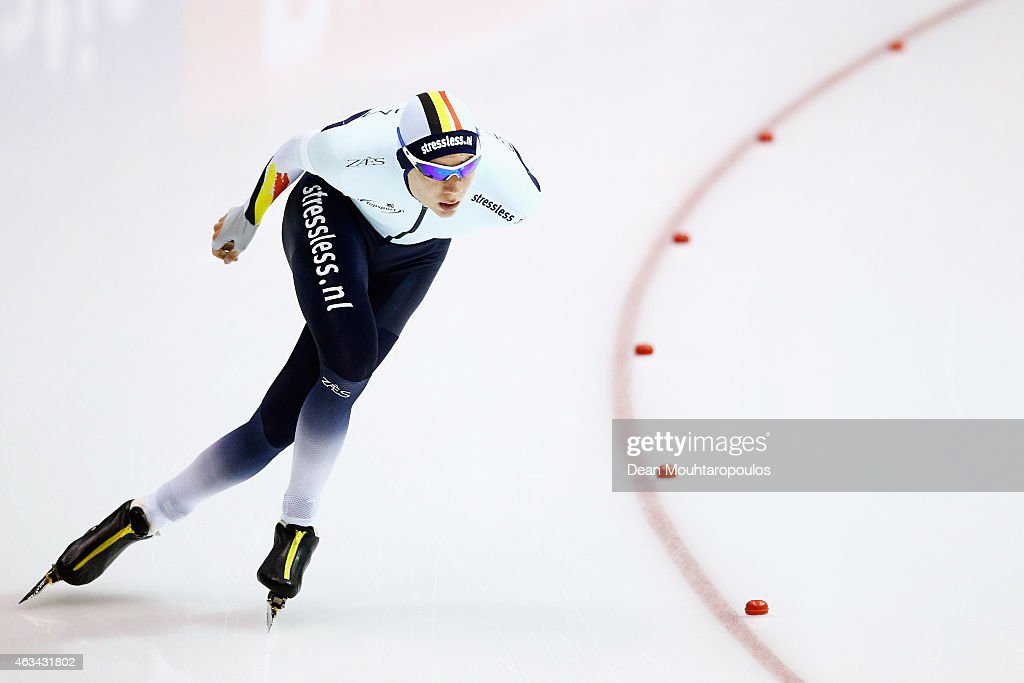 <a gi-track='captionPersonalityLinkClicked' href=/galleries/search?phrase=Bart+Swings&family=editorial&specificpeople=7294720 ng-click='$event.stopPropagation()'>Bart Swings</a> of Belgium competes in the Mens 5000m race during day 3 of the ISU World Single Distances Speed Skating Championships held at Thialf Ice Arena on February 14, 2015 in Heerenveen, Netherlands.