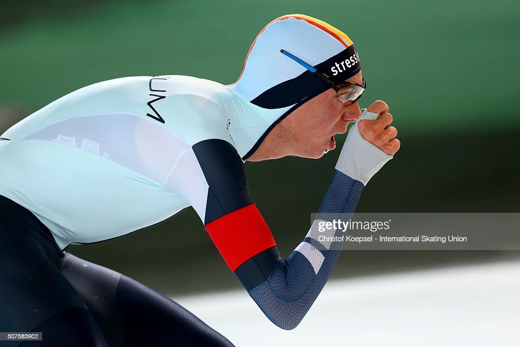 <a gi-track='captionPersonalityLinkClicked' href=/galleries/search?phrase=Bart+Swings&family=editorial&specificpeople=7294720 ng-click='$event.stopPropagation()'>Bart Swings</a> of Belgium skates during the 5000m men race Divison A during Day 2 of ISU Speed Skating World Cup at Soermarka Arena on January 30, 2016 in Stavanger.
