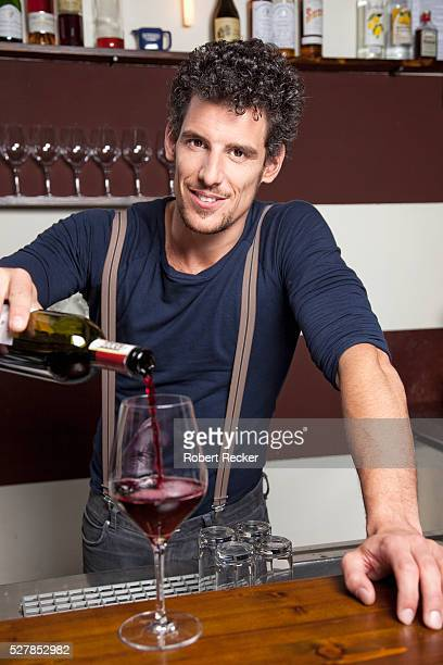 Bartender in winebar