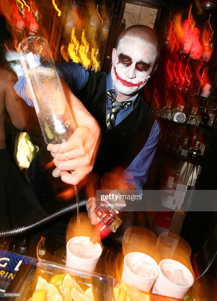 a bartender mixes cocktails during the abbeys halloween celebration on october 31 2009 in west - What Is Halloween A Celebration Of