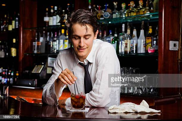 Bartender Mixing a Drink