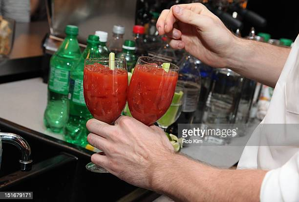 A bartender serves Bloody Mary cocktail at the GQ Nordstrom Launch PopUp Store at Nordstrom's Treasure Bond Store on September 9 2012 in New York City