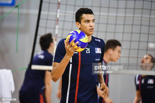 Barthelemy Chinenyeze of France during a training session of the French volleyball national team on June 28 2017 in Vincennes France