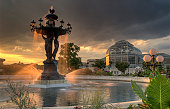 Sunset at the Bartholdi Fountain, Washington, D.C.