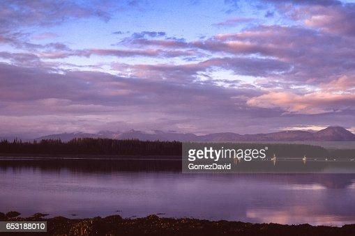 Bartllett Cove Alaska at Sunrise : Stock Photo