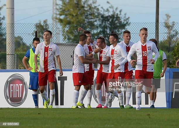 Bartlomiej Smuczynski of of Poland U20 celebrates after scoring his team's second goal during the match between the Italy U20 v Poland U20 the 4...