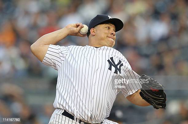 Bartolo Colon of the New York Yankees pitches against the Boston Red Sox during their game on May 13 2011 at Yankee Stadium in the Bronx borough of...