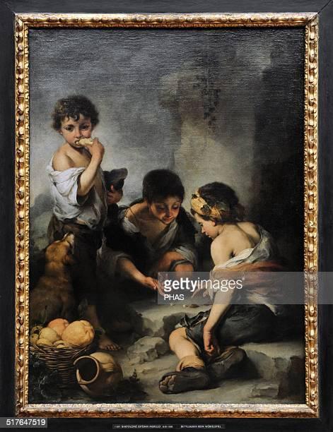 Bartolome Esteban Murillo Spanish painter Beggar boys playing dice 1675 Alte Pinakothek Munich Germany