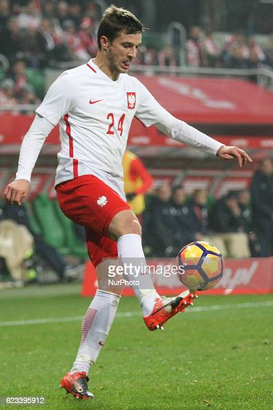 Bartosz Bereszynski of Poland during the international friendly football match Poland vs Slovenia on November 14 2016 in Wroclaw