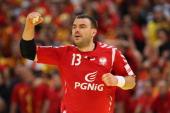 Bartosz Jurecki of Poland celebrates a goal during the Men's European Handball Championship second round group one match between Poland and Macedonia...
