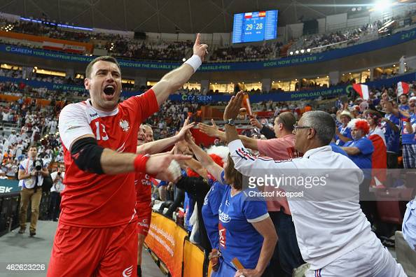 Bartosz Jurecki of Poland celebrates after the third place match between Poland and Spain in the Men's Handball World Championship at Lusail...