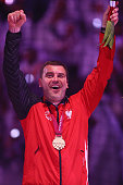 Bartosz Jurecki of Poland celebrates the third place during the final match between Qatar and France in the Men's Handball World Championship at...