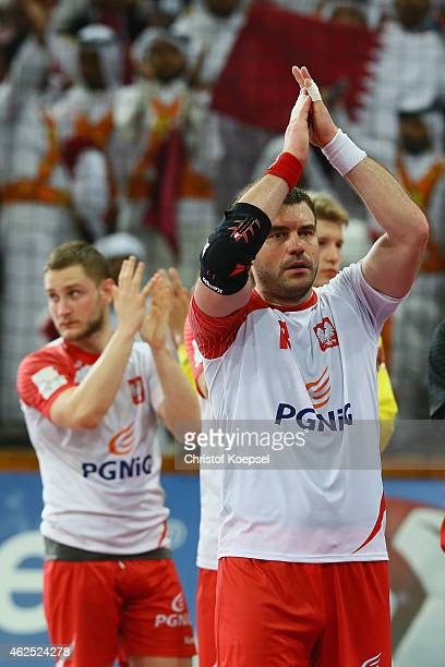 Bartosz Jurecki of Poland looks dejected after the semi final match between Poland v Qatar during the Men's Handball World Championship at Lusail...