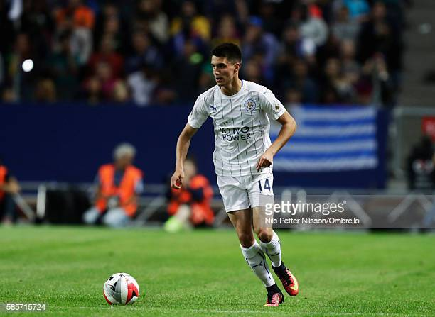 Bartosz Kapustka 2016 International Champions Cup Leicester City FC and FC Barcelona at Friends arena on August 3 2016 in Solna Sweden