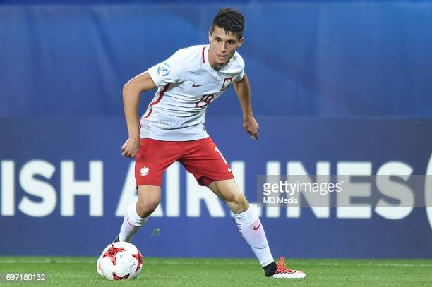 Bartosz Kapustka during the UEFA European Under21 match between Poland and Slovakia at Arena Lublin on June 16 2017 in Lublin Poland