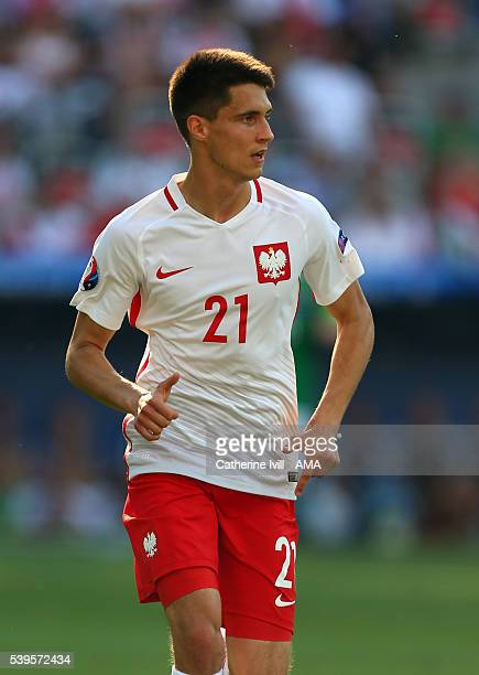 Bartosz Kapustka of Poland during the UEFA EURO 2016 Group C match between Poland and Northern Ireland at Allianz Riviera Stadium on June 12 2016 in...