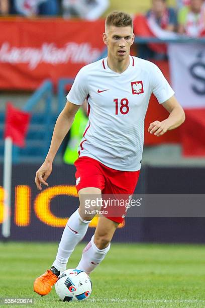 Bartosz Salamon during the Euro 2016 friendly football match between Poland and Lithuania on June 6 2016 in Krakow Poland