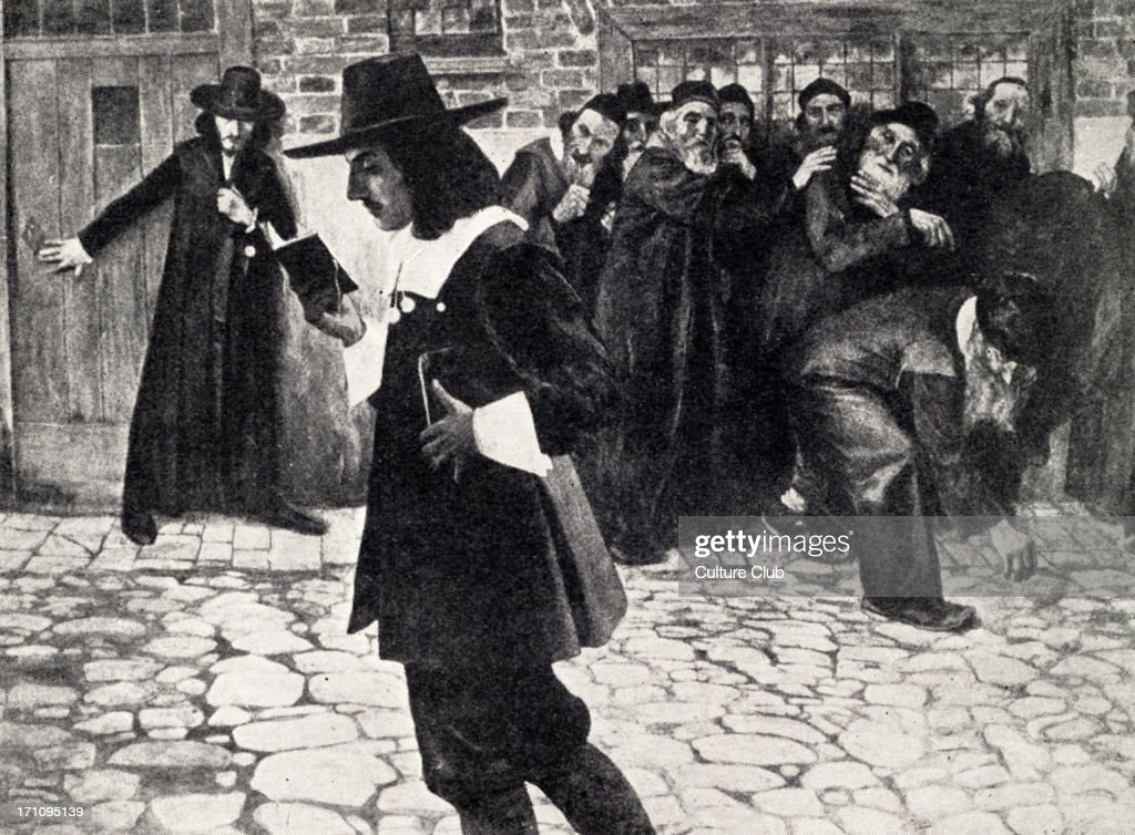 Baruch SPINOZA - walking with book in hand in Amsterdam, ostracised by the local Jewish community. Philosopher, 1632 - 1677