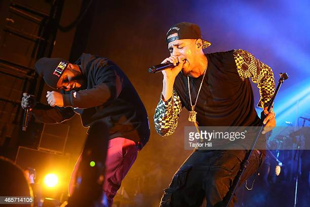 Bas and J Cole perform at Madison Square Garden on January 28 2014 in New York City