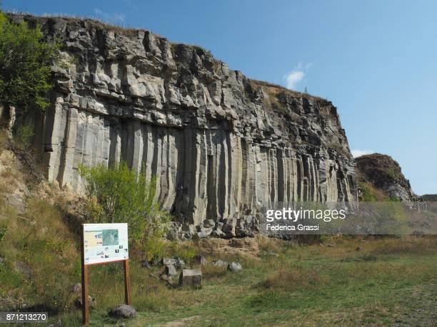 Basalt Column Formations Near Racos, Romania