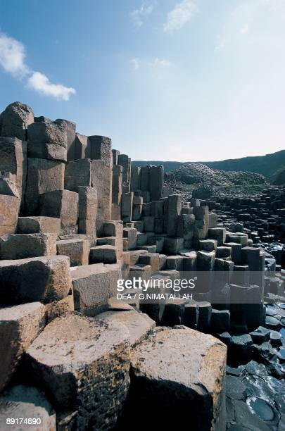 Basalt rock formations on the coast Giant's Causeway County Antrim Northern Ireland
