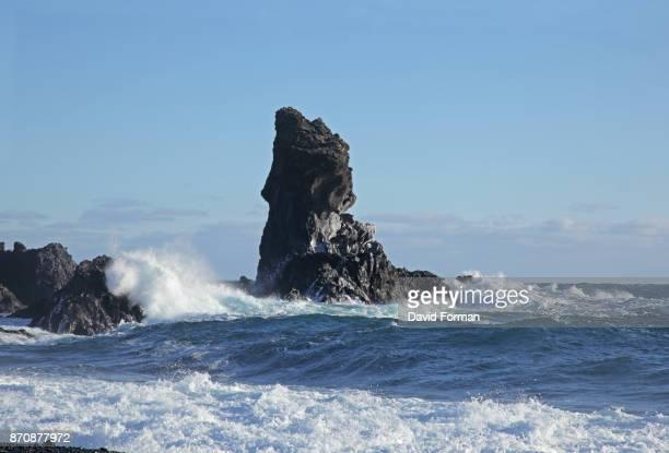 Basalt Sea-stack at Londrangar on the Snaefellsnes Peninsula, Iceland.