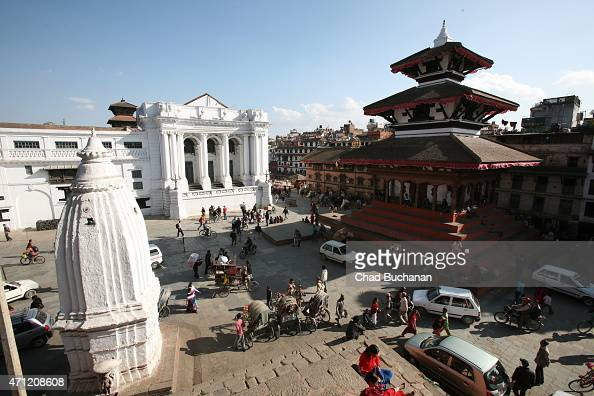 Basantapur Durbar Square as seen on November 21 2008 in Kathmandu Nepal A major 78 earthquake hit Kathmandu midday on Saturday and was followed by...